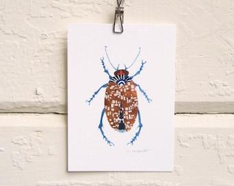 Shiny Copper Beetle Print