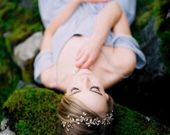 Bridal hair vine , sparkle headband, crystal bridal headpiece, Sparkle crystal hair vine with Swarovski crystals  --  Style 333