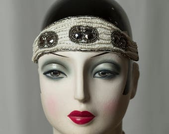 Simple, yet beautiful Flapper headband/Headpiece, vintage Wedding, Gatsby Party, Charleston, 20s/20s