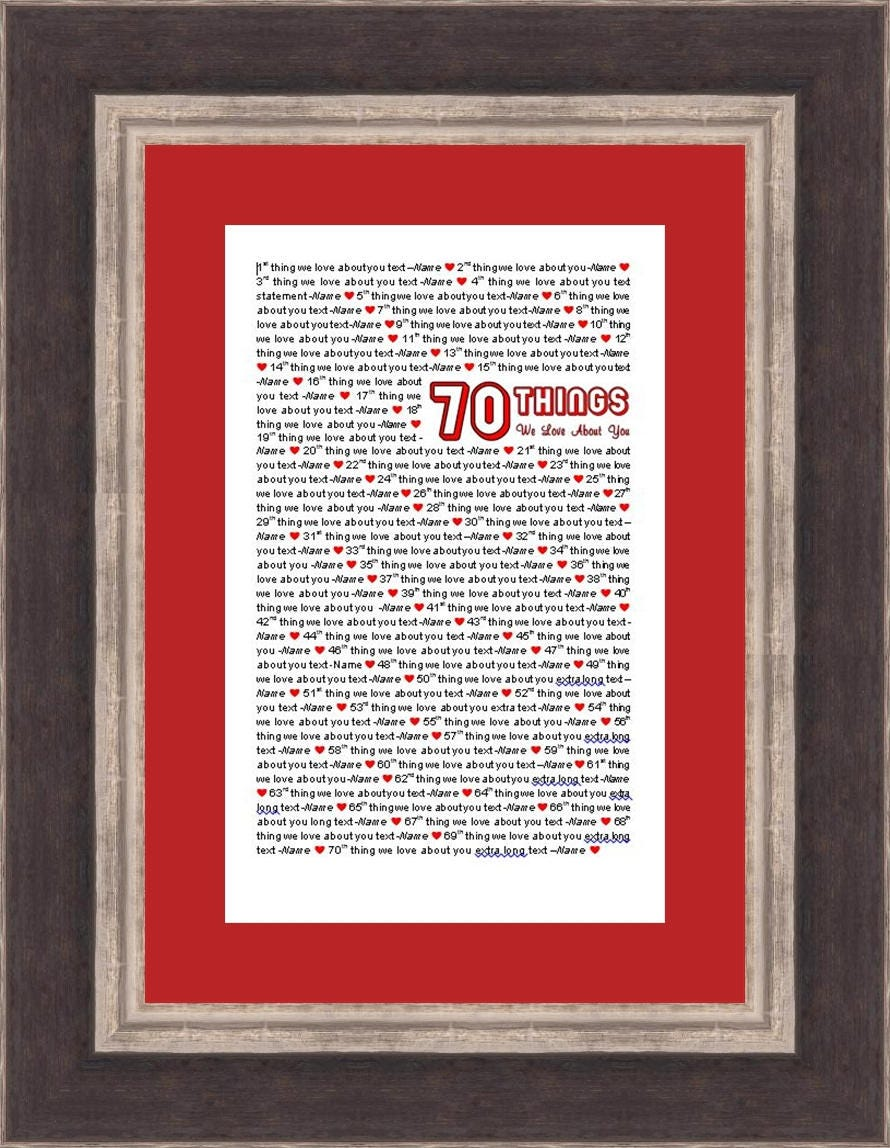 11x17 Template in Microsoft Word for 70 Things We Love