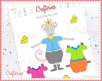 Clara from the nutcracker paper doll craft kit diy print and mouse king from the nutcracker paper doll craft kit diy print and create educational activity ballet and dance solutioingenieria Image collections