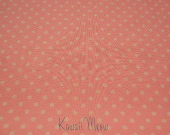 SALE - Polka Dots Orange x Beige Dots - Fat Quarter (12ko0114)