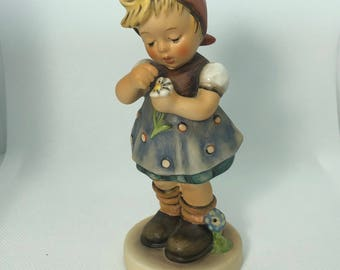 1972 HUMMEL GOEBEL FIGURINE 380 Daisies dont tell tmk-6 West W Germany 100% original retired statue signed members only special edition