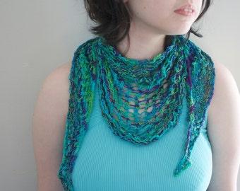 Knit Purple Green Blue Scarf Shawl Wrap Women's Accessories