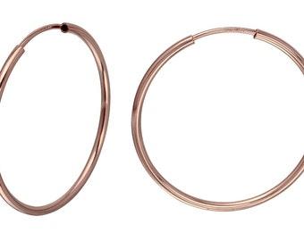 1 Pair 20 mm Hoops14K Rose Gold Filled Endless Hoops (RGF4003809)