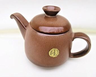Vintage Teapot | Frankoma Teapot | Pottery Tea Pot | Lazy Bones Brown Satin | Pottery Coffee Pot | Coffee Server