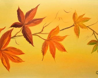Autumn Leaves... a print from an original Gillian Ousby oil painting.