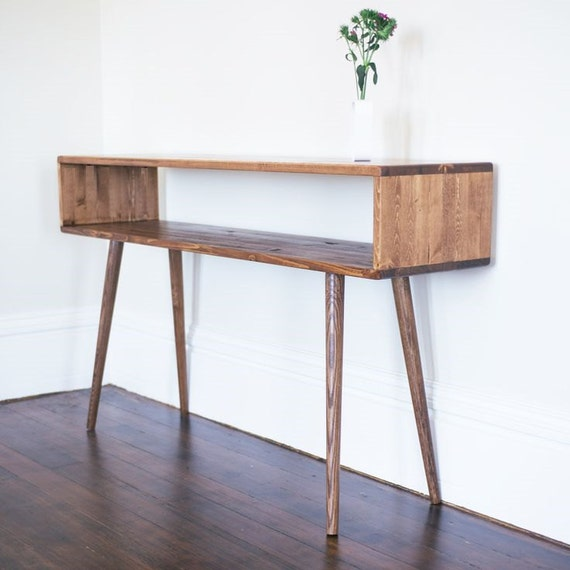 Mid Century Inspired Sofa Table / Entry Table MADE TO ORDER