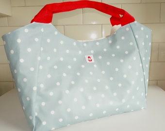 Oilcloth Bella Bag - Polka Dot