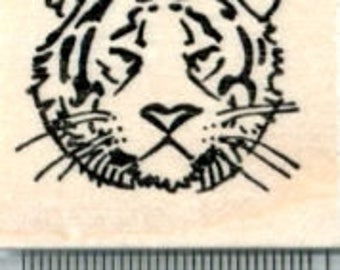 Year of the Tiger Rubber Stamp, Chinese New Year, Zodiac D32403 Wood Mounted