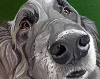 Custom Pet Portrait, Pet Portrait, Pet Painting, Custom Dog Portrait, Dog Painting, From Photograph, Pet Lover Gift, Pet Memorial