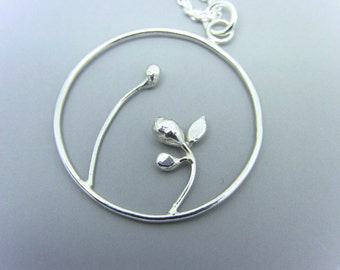Sterling Silver Pendant Necklace--Sprout & Bloom