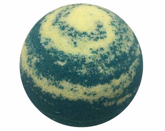 Pacific Waters Bath Bomb, Bath Fizzy, Handmade Spa Product, Epsom Salts, Hydrating Coconut Oil, Sensitive Skin, Great Gift for Her