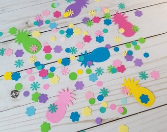 Pineapple Confetti, Table Scatter, Hawaiian Wedding Confetti, Tropical Party Theme, Luau Table Decor, Baby Shower