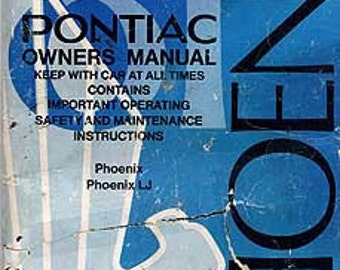 1981 Pontiac Phoenix Owner's Manual - Pontiac 10016554, Phoenix 10016554