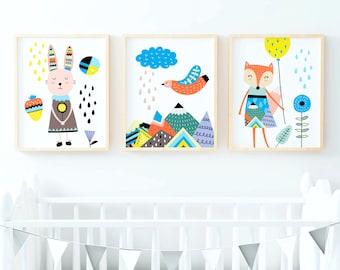 Scandinavian Prints Scandinavian Art Nursery Wall Art Kids Room