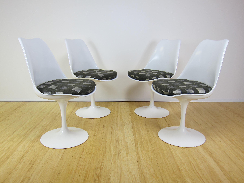 Knoll Eero Saarinen Tulip Armless Chairs Set Of 4 # Muebles Eero Saarinen