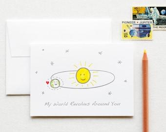 Solar System Letterpress Love Note