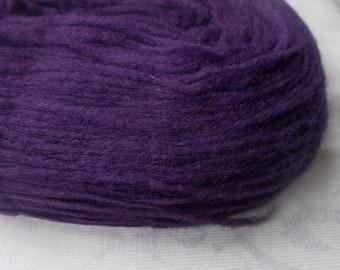 Purple pencil roving, pre-yarn spinning fiber, unspun knitting yarn, felting fibre, wool roving, tapestry yarn, thin roving, nalbinding yarn