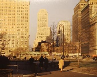 1950s Battery Park Manhattan NYC Color Photo Print New York City