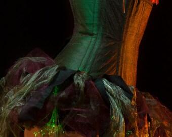 "22"" Fairy Underbust Corset Dress with Fibre Optic Lights"