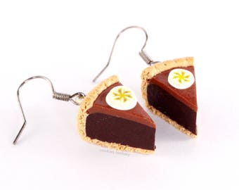 Chocolate banana pie earrings