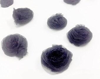 Rare Cornelli technical organza flowers