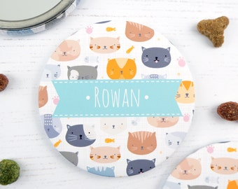 Personalised Cat Pocket Mirror - Cat gift. Crazy cat lady - Cat Mirror - Cat lover gift