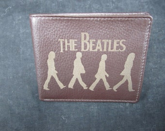 Beatles leather bi fold wallet- hand made premium leather