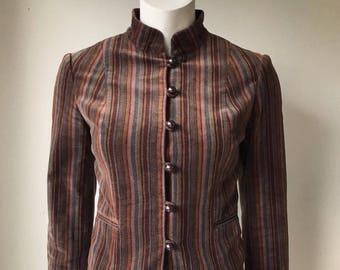 Vintage Club Monaco Multi-Color Velvet Jacket Size 0