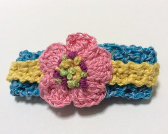 Crocheted Spring blossom Bracelet PDF