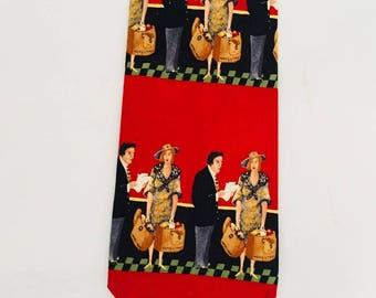 """1980's GUY Buffet Collection Silk  Necktie  57""""L  X 3.75"""" W"""