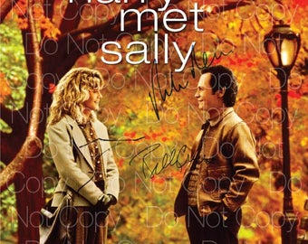 When Harry Met Sally signed Billy Crystal Meg Ryan Rob Reiner 8X10 photo picture poster autograph RP