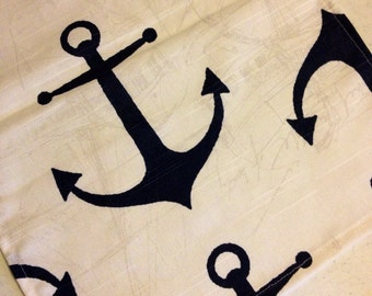 Anchors in Nautical Navy table wedding runners