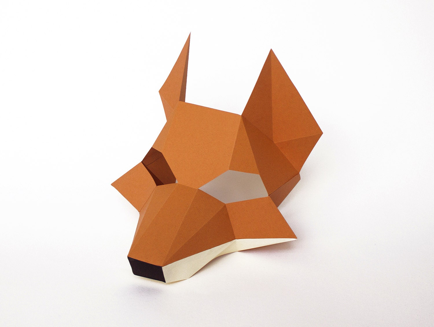 Fox mask for kids diy printable paper animal mask for zoom jeuxipadfo Image collections