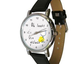 Gin O'Clock Wristwatch - Gin gift - Perfect for any Gin lover