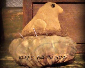 SALE!! Chick Pincusion pattern by TFC Folkart