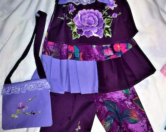 Beautiful two piece girls handmade outfit