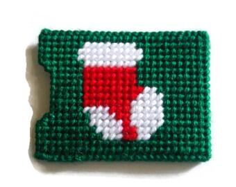 Easter Gift, Plastic Canvas Gift Card Holder // Stocking on Gift Card Holder // Christmas Gift  card Holder // Christmas Stocking Stuffer