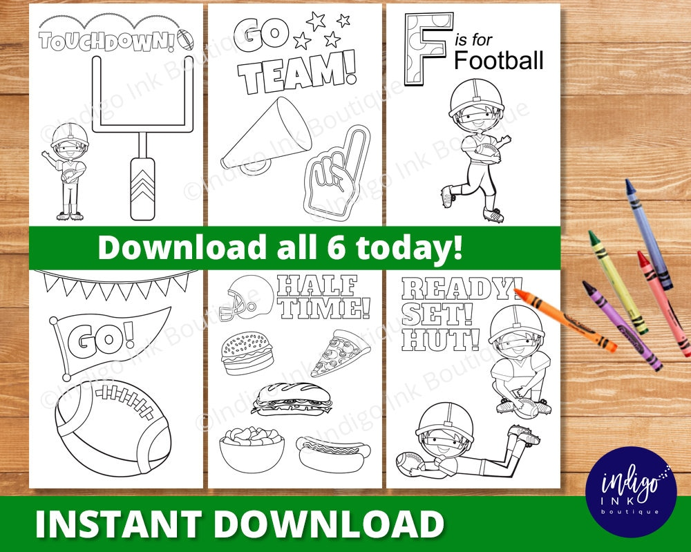 Football Coloring Pages for Kids Superbowl Coloring Sheets