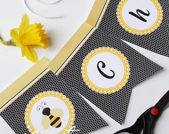 Customized Bumble Bee Party Banner