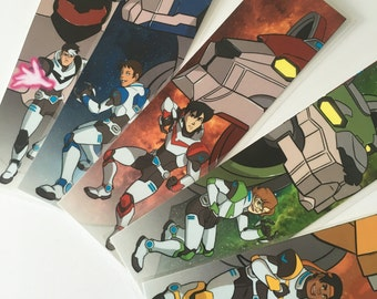 All Five Space Paladin Mini Prints- Laminated Set- Bookmark Size- SAVE 5 DOLLARS