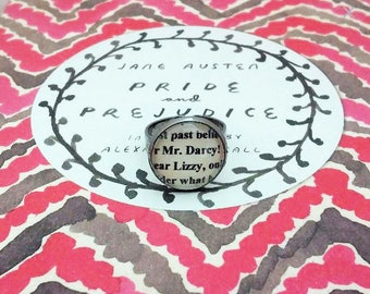 Pride and Prejudice Adjustable Ring Jane Austen Darcy Elizabeth Lizzy
