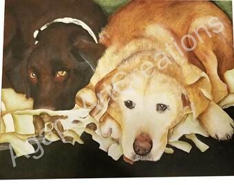 Custom Pet Painting - Two Pets