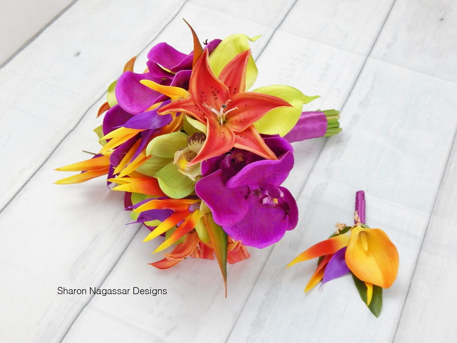 Bird of Paradise, lily/lilies, orchid/orchids, orange, pink/fuchsia ...