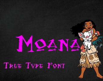 Disney's Moana True type font