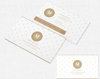 100 Business Card  2 x 3.5 - Style Mamabear Dots