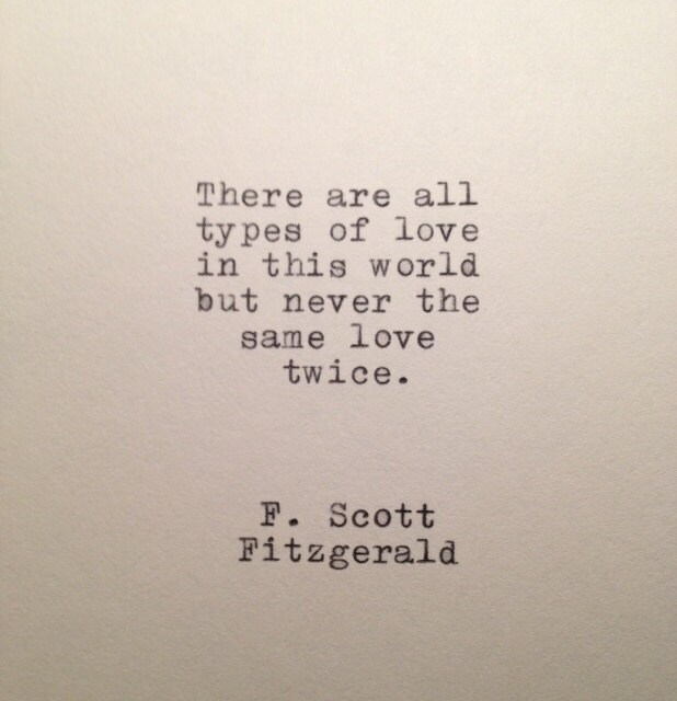 Love Quotes F Scott Fitzgerald Beauteous F Scott Fitzgerald Love Quote Made On Typewriter