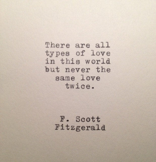 Love Quotes F Scott Fitzgerald Adorable F Scott Fitzgerald Love Quote Made On Typewriter