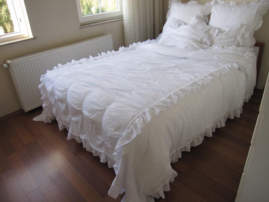 pintuck bedding queen oversized super king duvet cover white. Black Bedroom Furniture Sets. Home Design Ideas